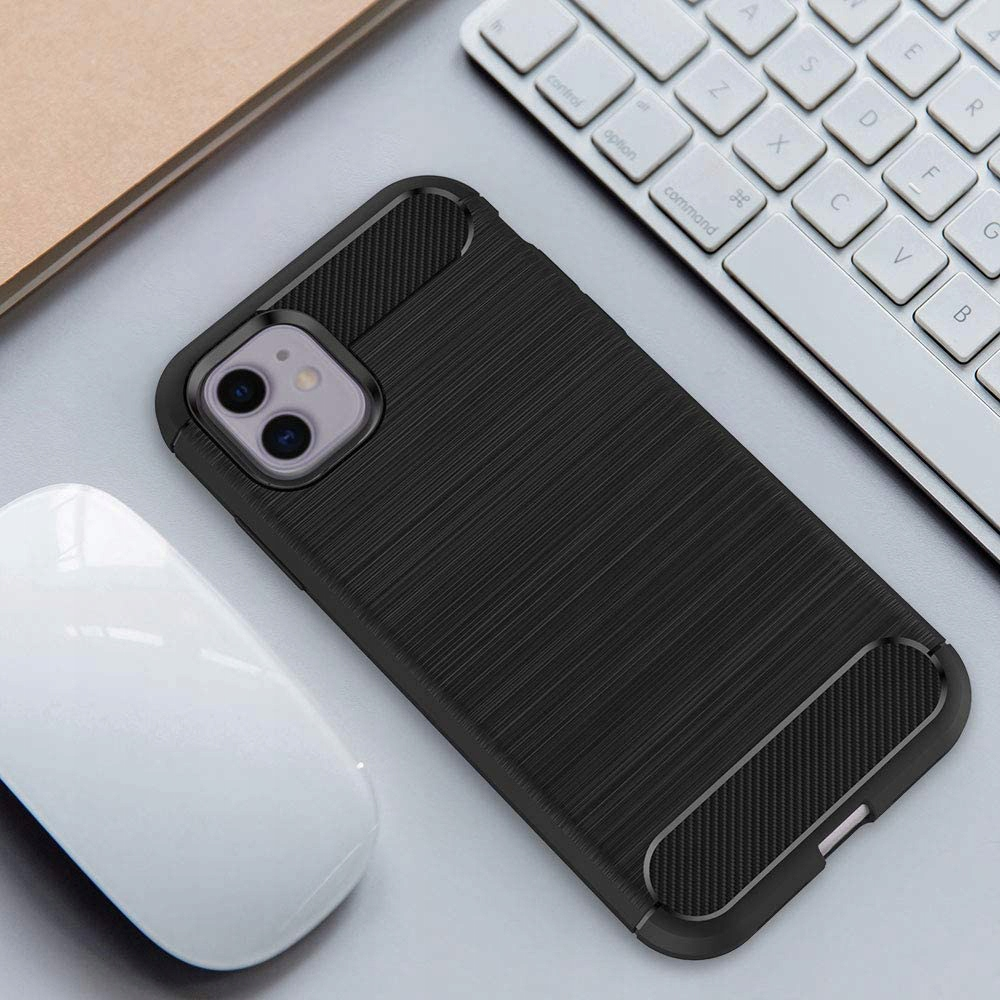 ETUI do iPhone 11 KARBON PANCERNE CASE + SZKŁO 9H Typ plecki
