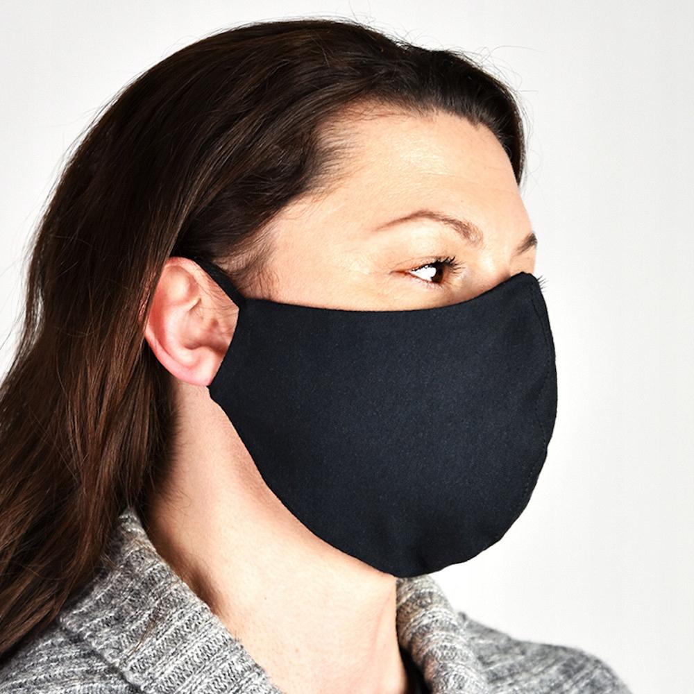 Купить Maska na twarz 2-warstwowa wialorazowa czarna L/XL на Otpravka - цены и фото - доставка из Польши и стран Европы в Украину.