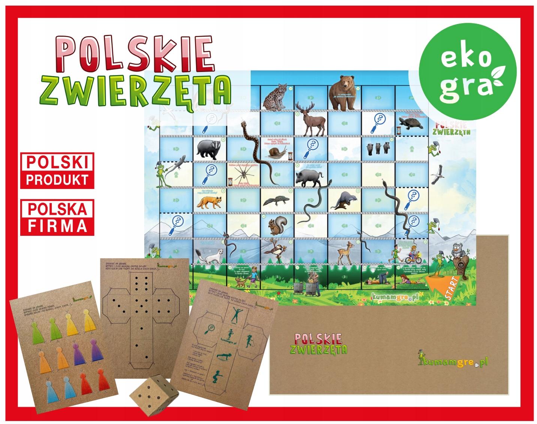 eko gra kopertowa dla dzieci POLSKIE ZWIERZĘTA
