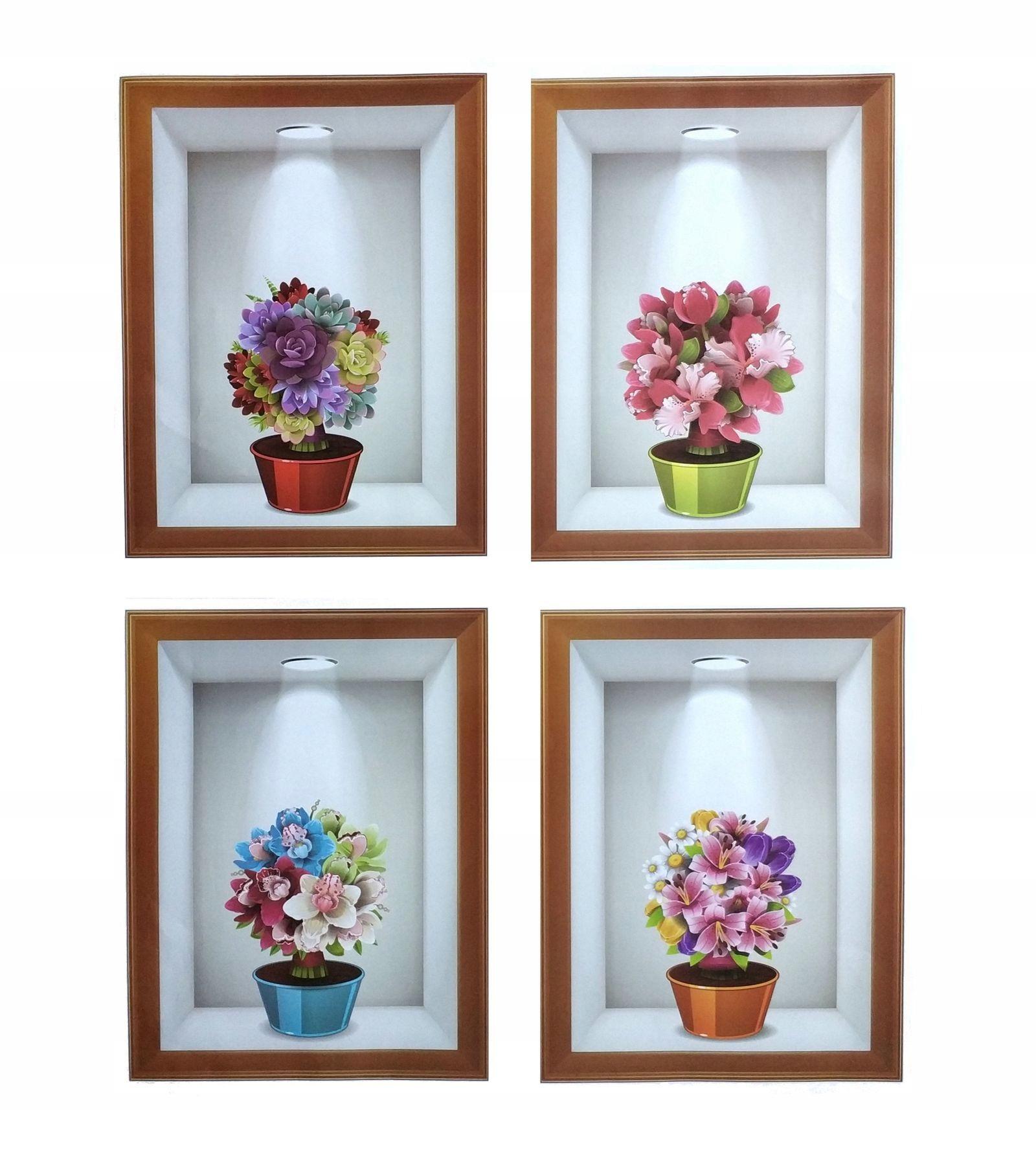 Наклейки на стену Цветы 3D WS-0352