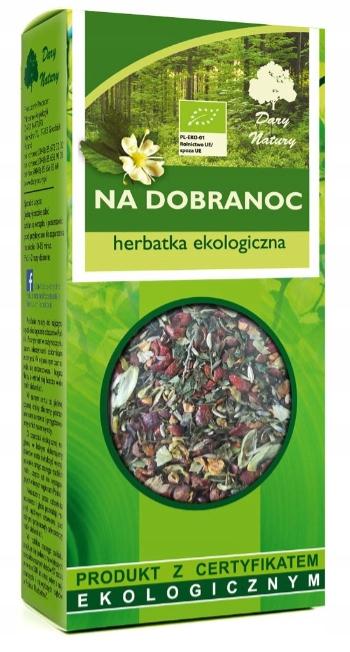Herbata ziołowa NA DOBRANOC melisa lawenda róża
