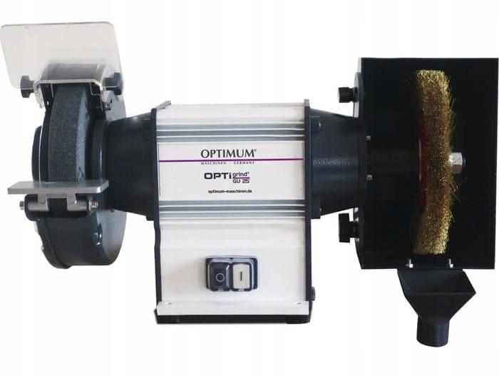 Szlifierka dwutarczowa GU 20B 400V OPTIMUM SZCZOTK