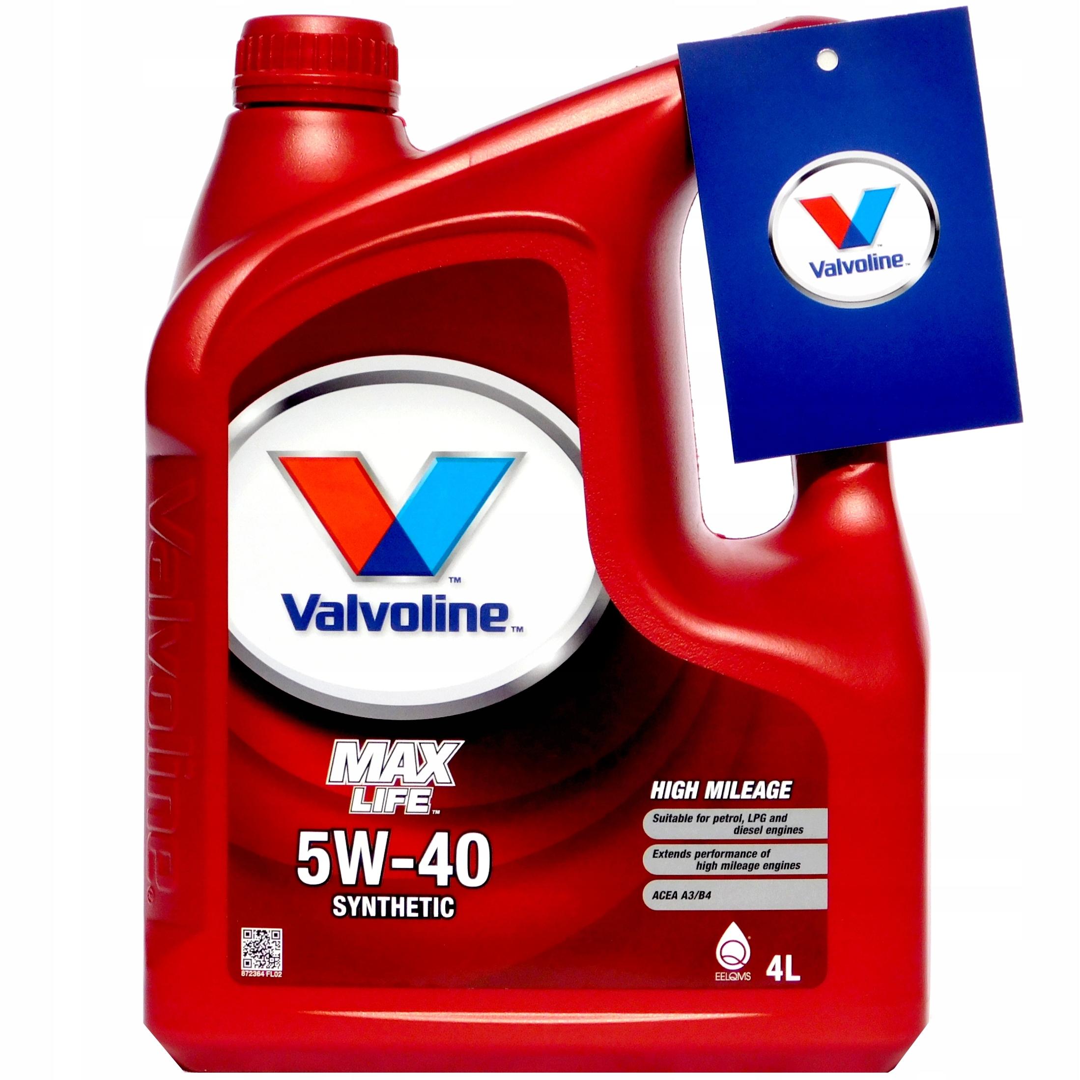 VALVOLINE MaxLife SYNTHETIC 5W40 4L ORIGINAL NEW