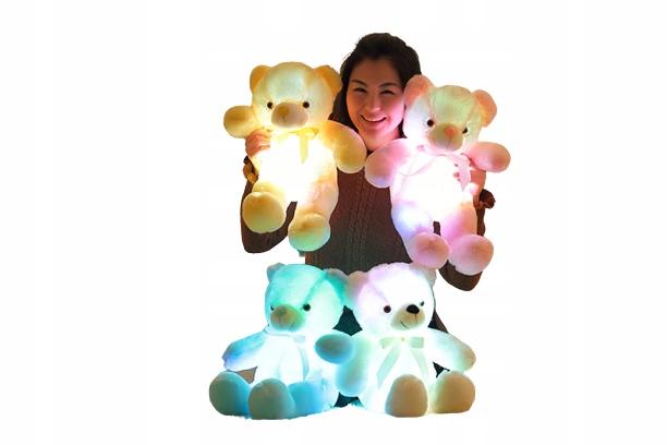 ŚM1 Svietiaci plyšový medvedík, maskot pre deti