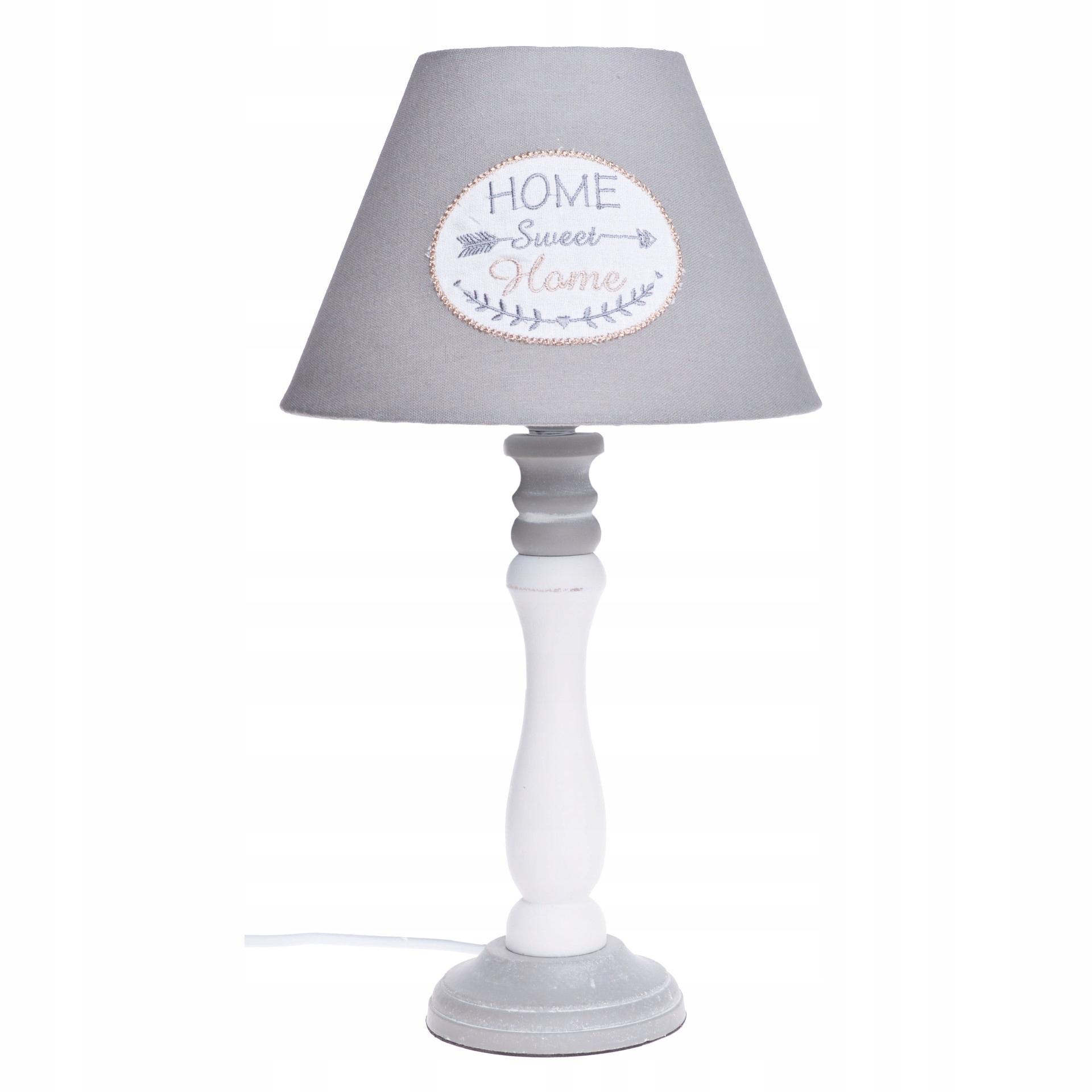 Šedá retro vintage nočná lampa