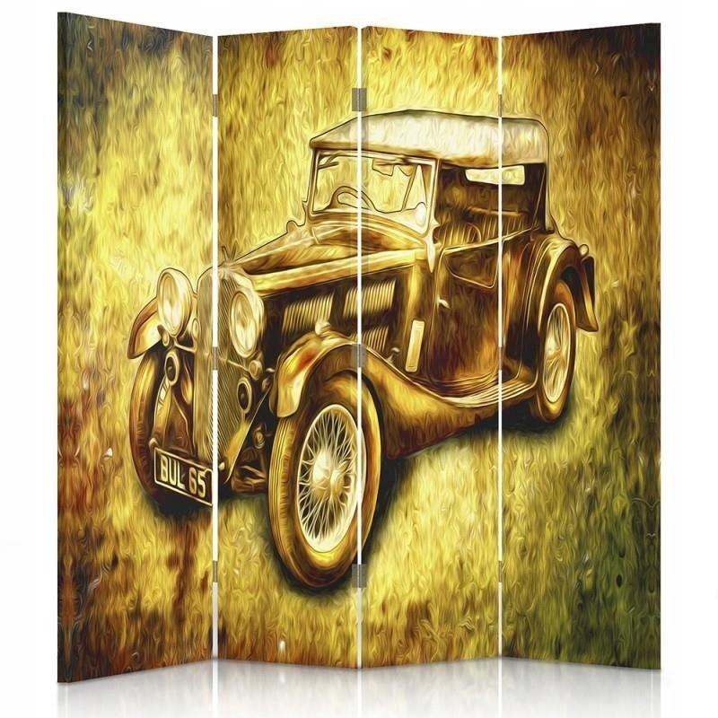 Obrazovky v šatni, retro auto 145x150