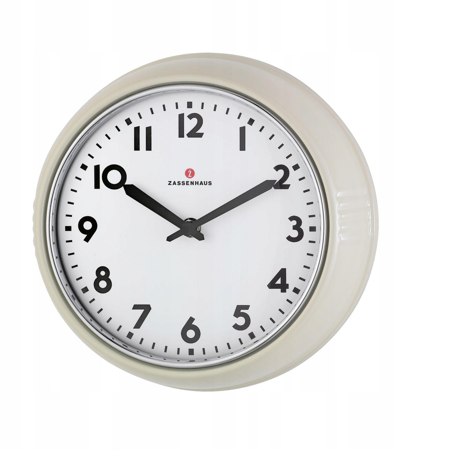 Nástenné hodiny Zassenhaus Retro 24x6 cm, krémové