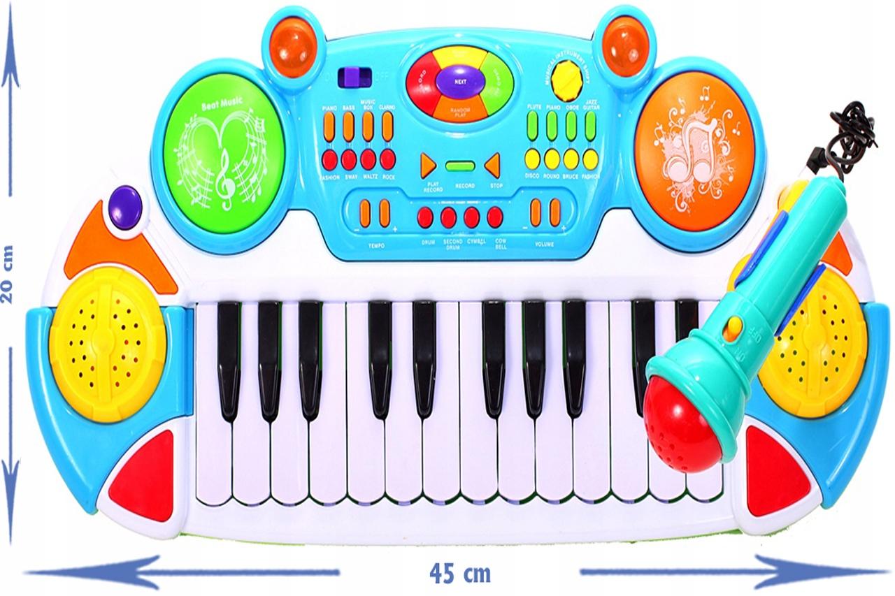 PIANINO KEYBOARD 24 klawisz. ORGANY TABORET ORGANY Głębokość produktu 20 cm