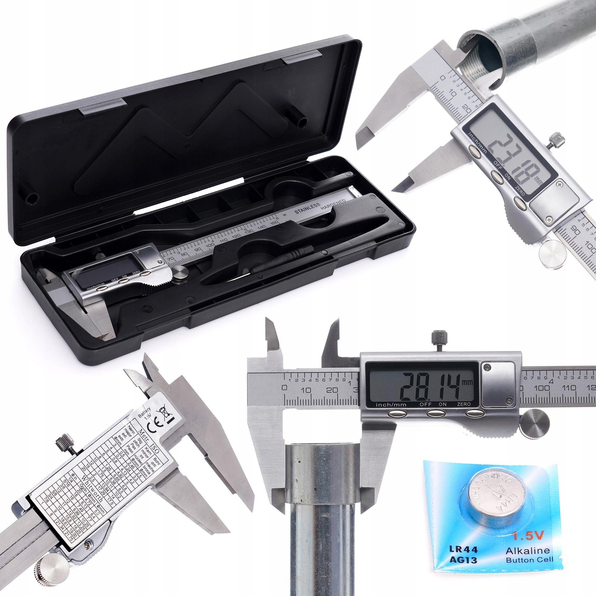 SUWMIARKA ELEKTRONICZNA LCD METALOWA OBUDOWA 150MM