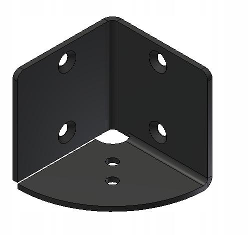 Угловой держатель для каркаса, каркас кровати RAL 9005