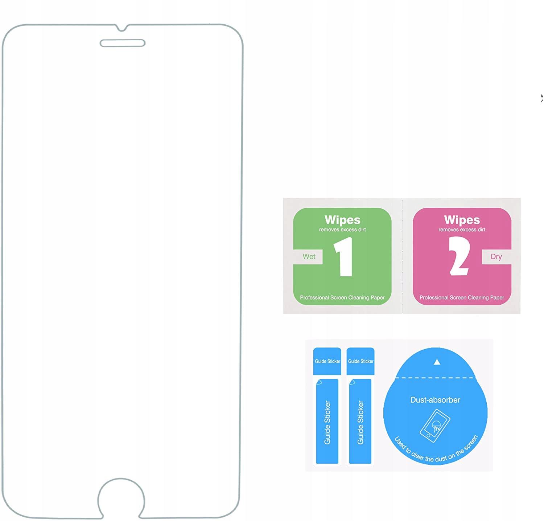 Szkło Hartowane do iPhone 8 Plus / 7 Plus / 6 Plus Konstrukcja powłoka oleofobowa zaokrąglone krawędzie zaokrąglone rogi