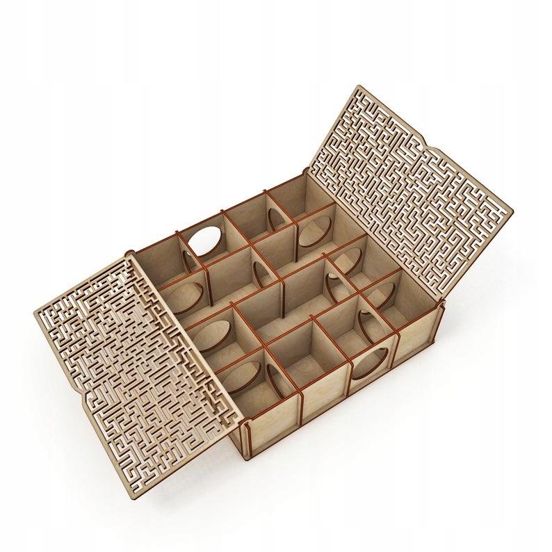 Деревянный домик-лабиринт для мышонка-хомяка
