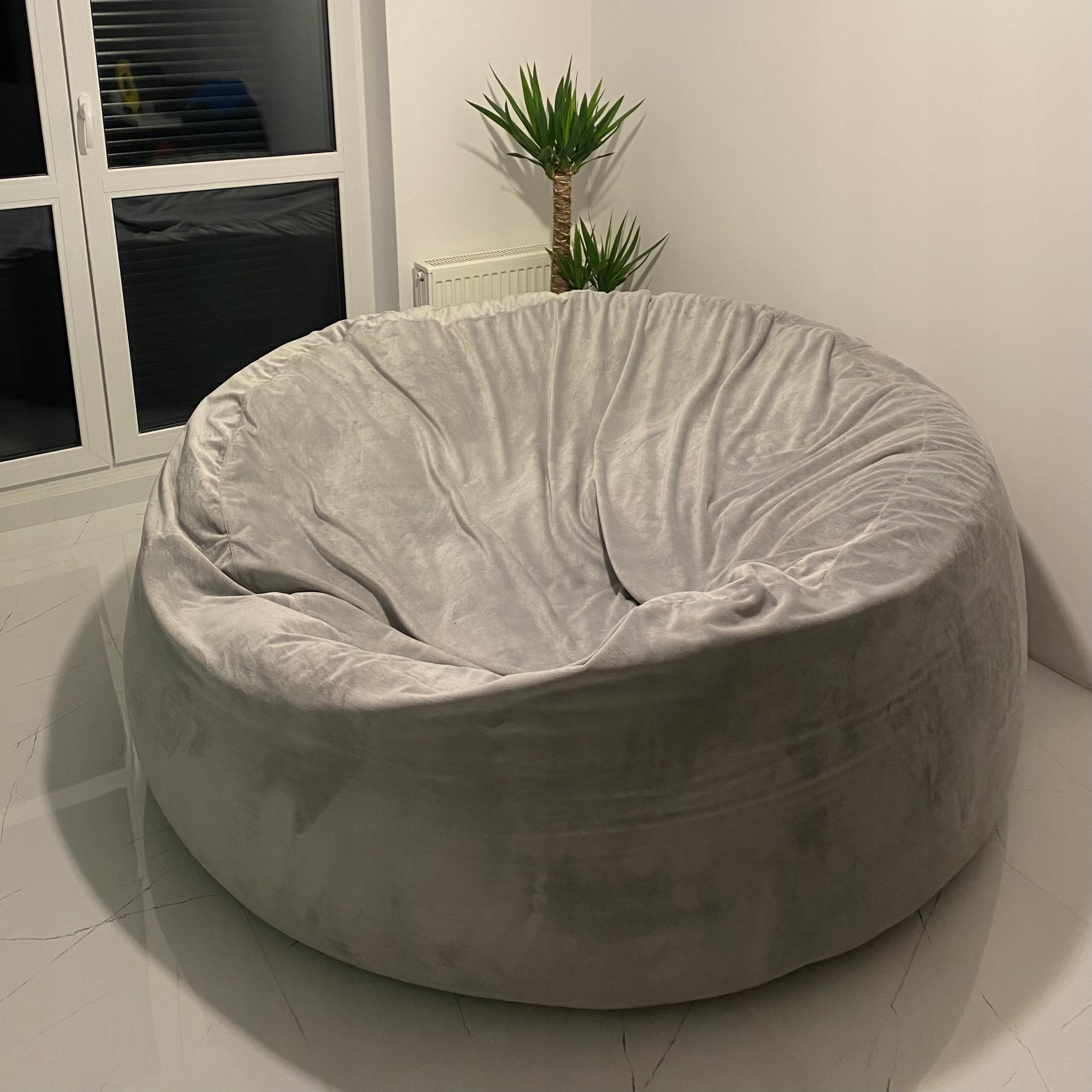 Гигантский пуф 180 см сиденье-мешок