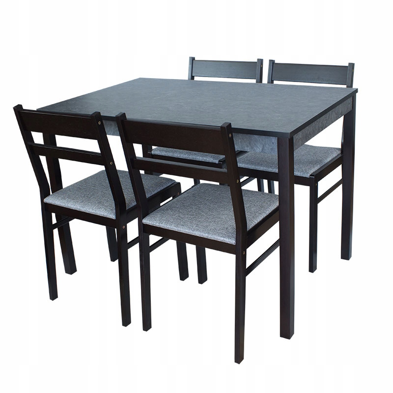 ZESTAW do SALONU 4 szt krzeseł + stół 70x110 x010