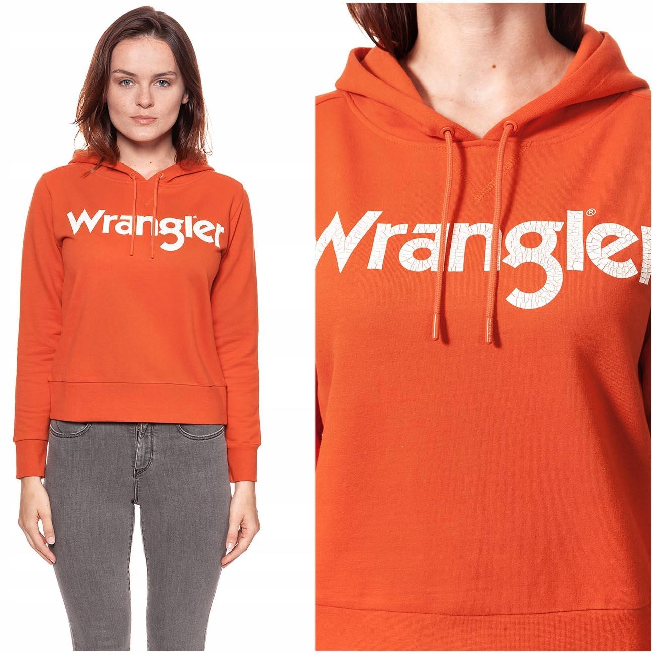 Wrangler Logo Hoody Bluza Damska Z Kapturem Xs