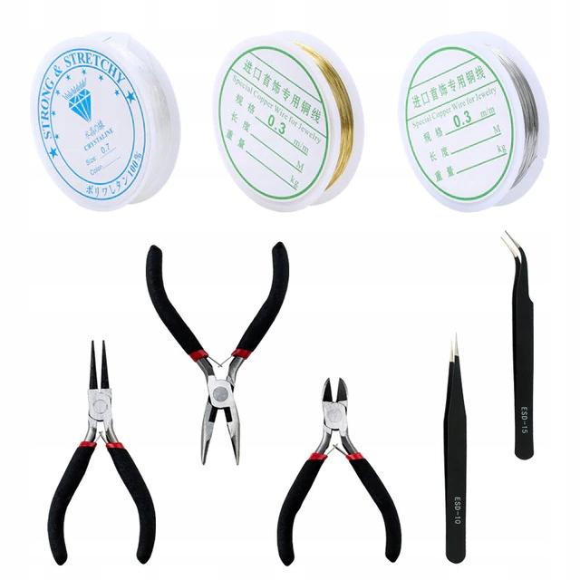 Инструменты для изготовления украшений 5 шт + проволока