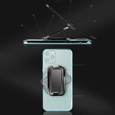 Uchwyt magnetyczny składany, pierścień na telefon Waga produktu z opakowaniem jednostkowym 0.1 kg