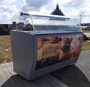 Стеклянная витрина для мороженого ISA 7 cuvette