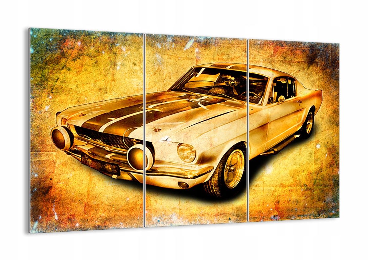 Obraz na okno Auta Mustang Retro GCE165x110-0528