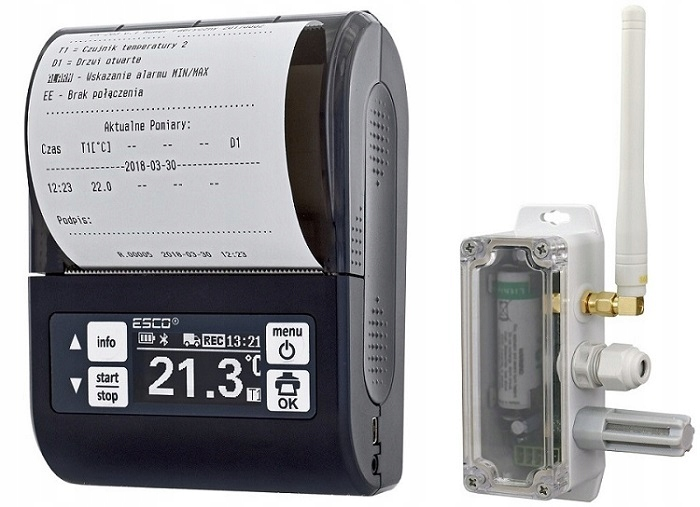 регистратор температуры dr203 z принтером 1 датчик