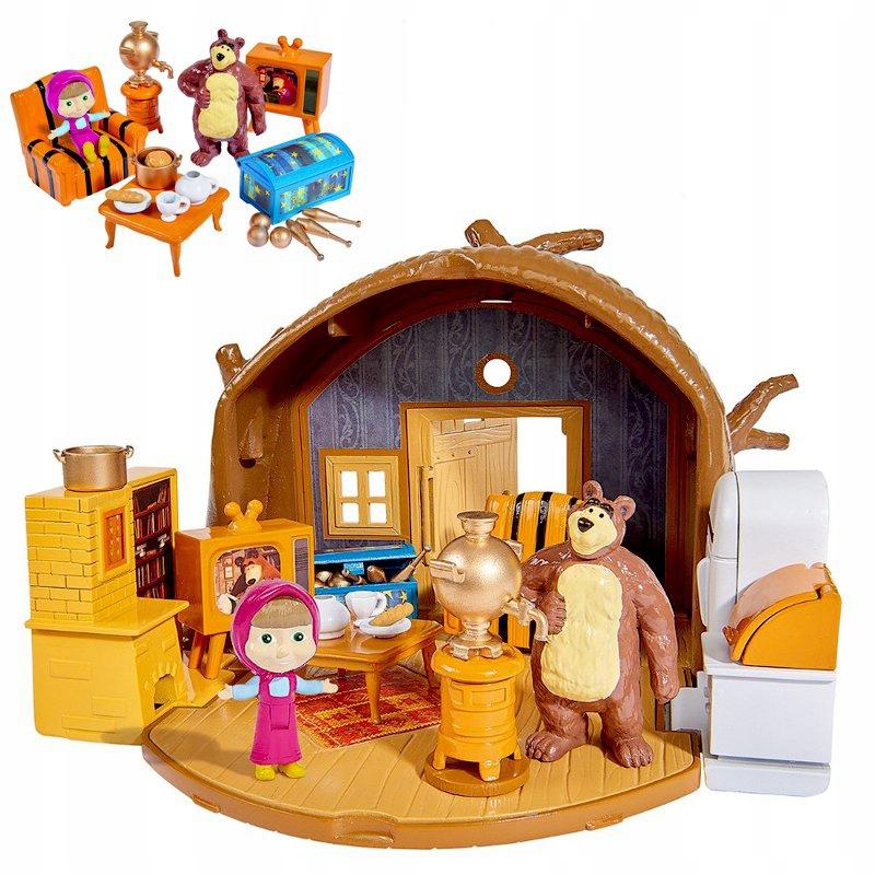 Máša a dom medveďa s prenosnou figúrkou