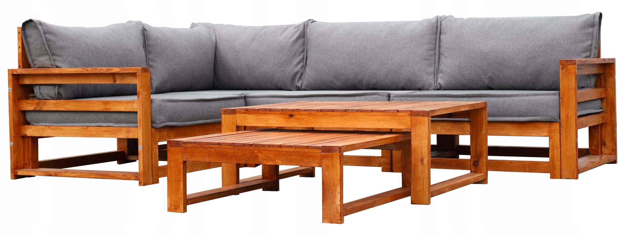 Sada záhradného nábytku z dreva 4-SEATOR + 2 LAVICE