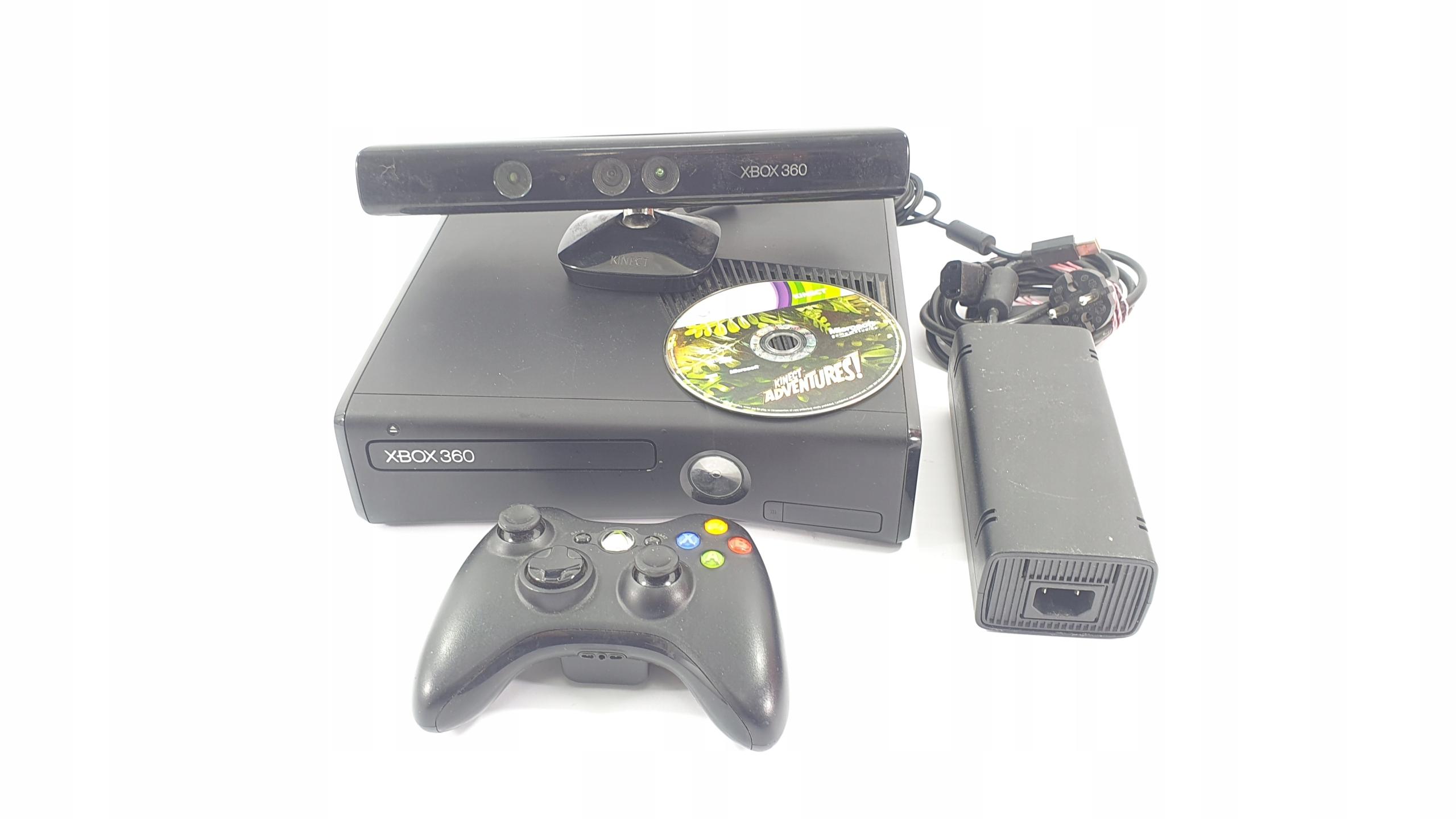 x360 KONSOLA XBOX 360 SLIM 4GB KINECT + GRA