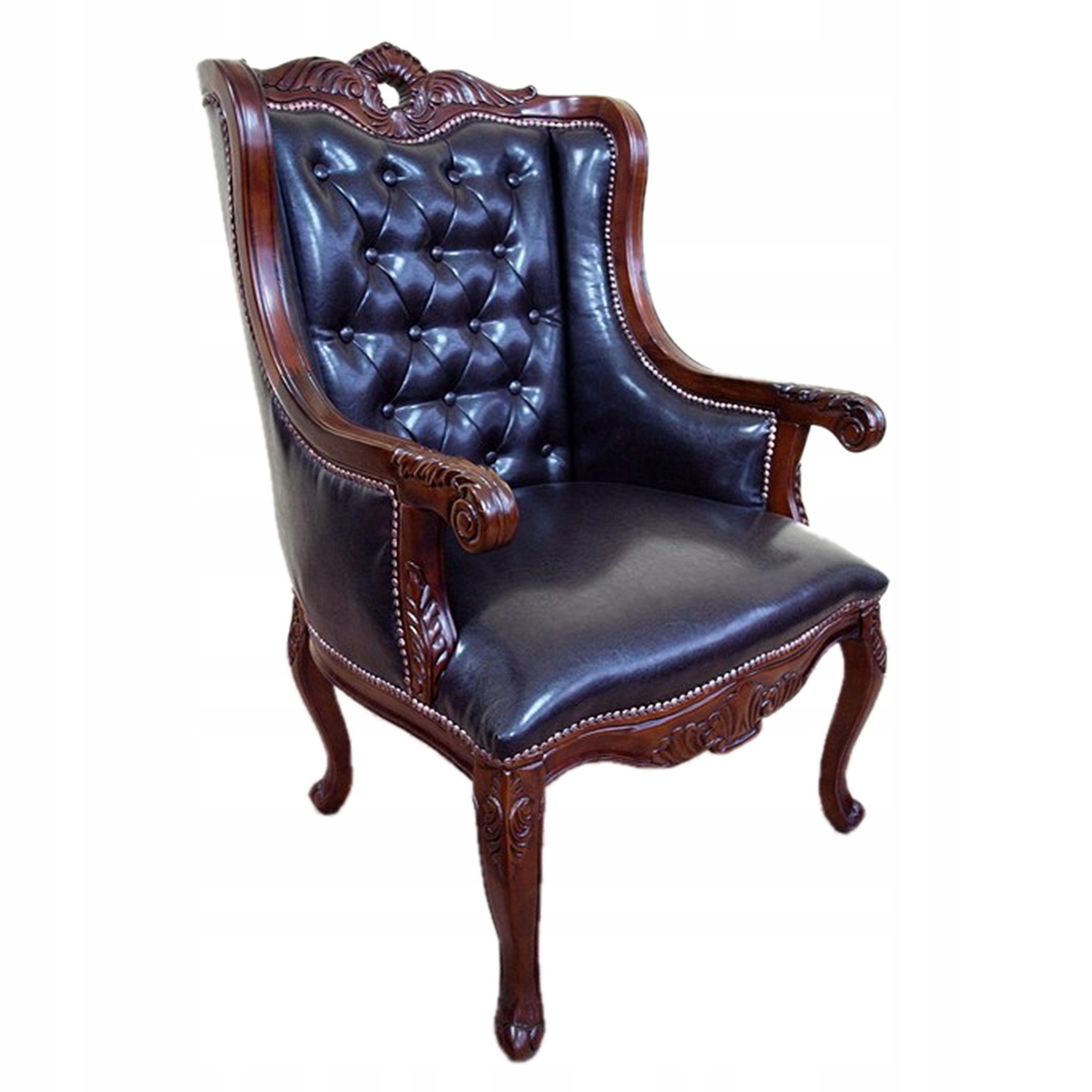 Nowy Stylizowany Klasyczny Rzeźbiony Fotel