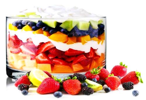 Szklana salaterka na sałatki warstwowe GYROS 20cm