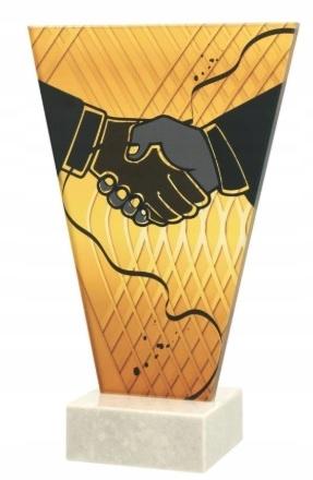 STATUETKA SZKLANA PODZIĘKOWANIE ручной 17,5cm Гравер