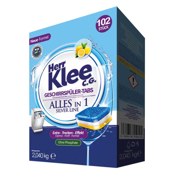 KLEE Вкладки 102 Все в одной посудомоечной машине капсулы