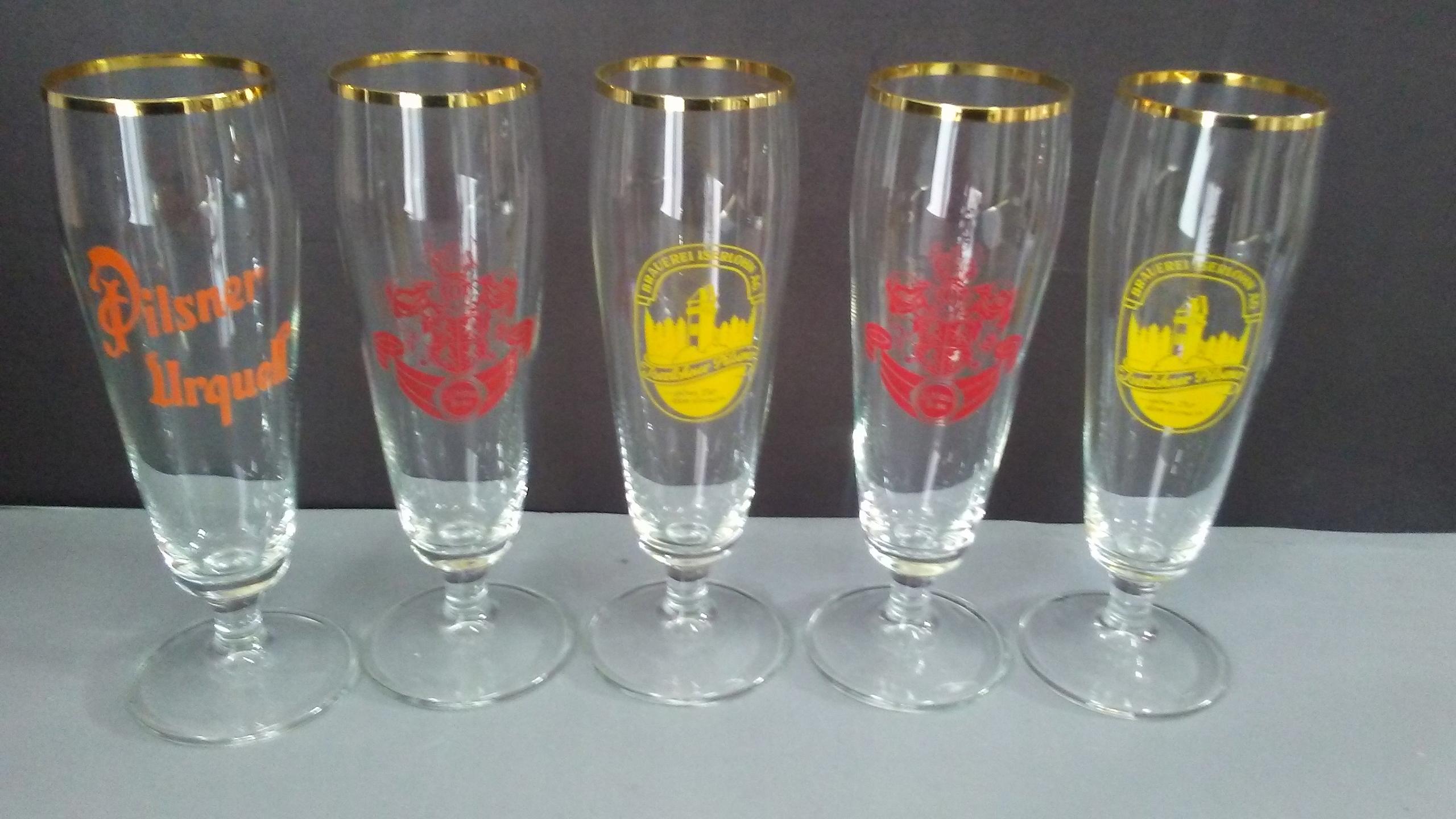 Stare 5 x szklanki do piwa vintage design