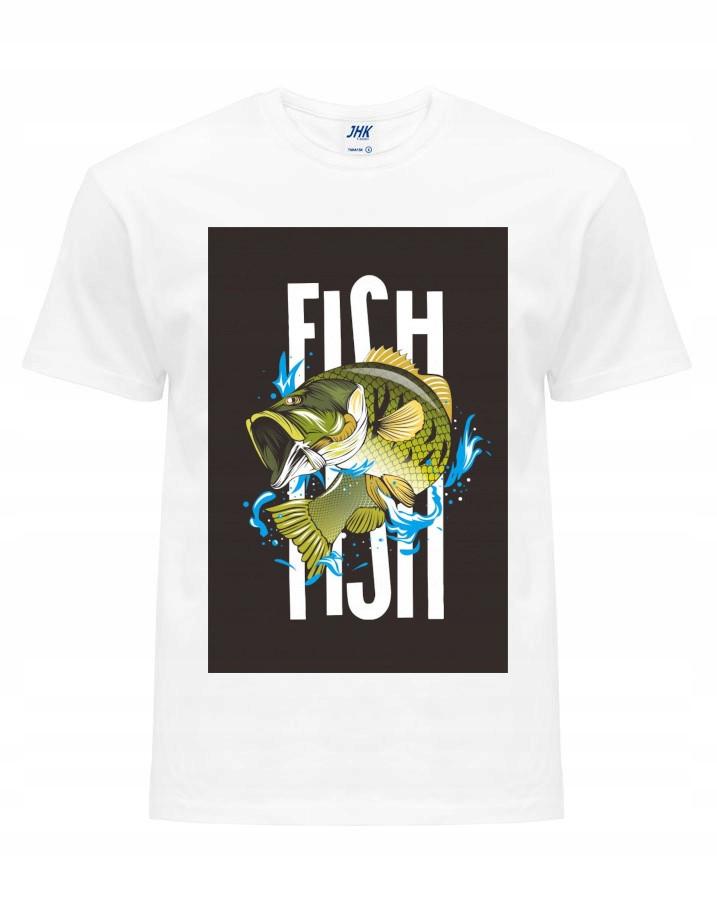 Koszulka Dla Wędkarza Rybaka Na Prezent Rozm M