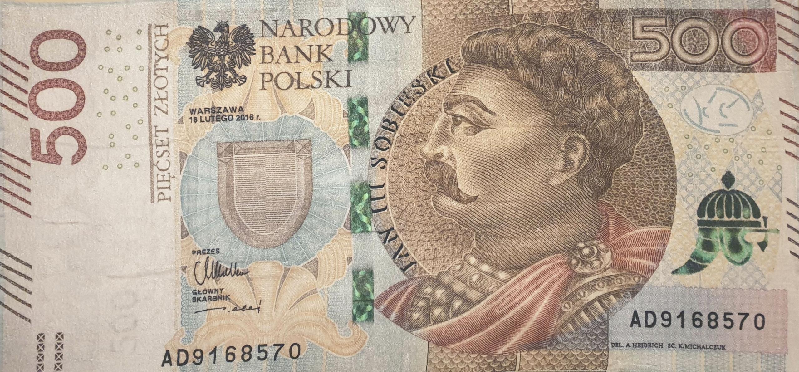 Uterák 500 PLN Big Banknote 100% bavlna! 70x140