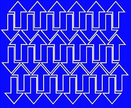 Naklejka strzałki 5x3cm 72szt fv niebieski matowy