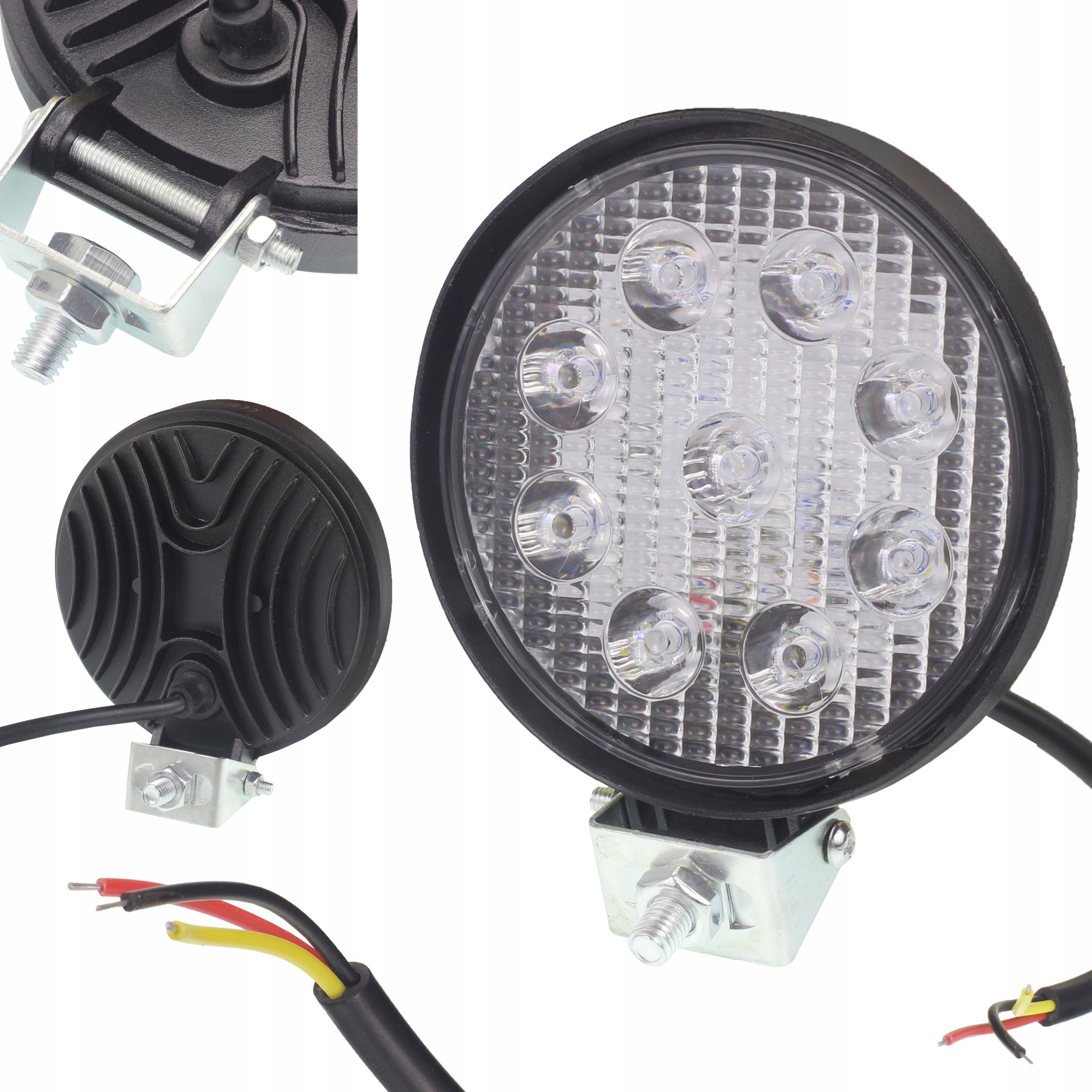 лампа рабочая ledowa галоген прожектора 9 led 12-30v