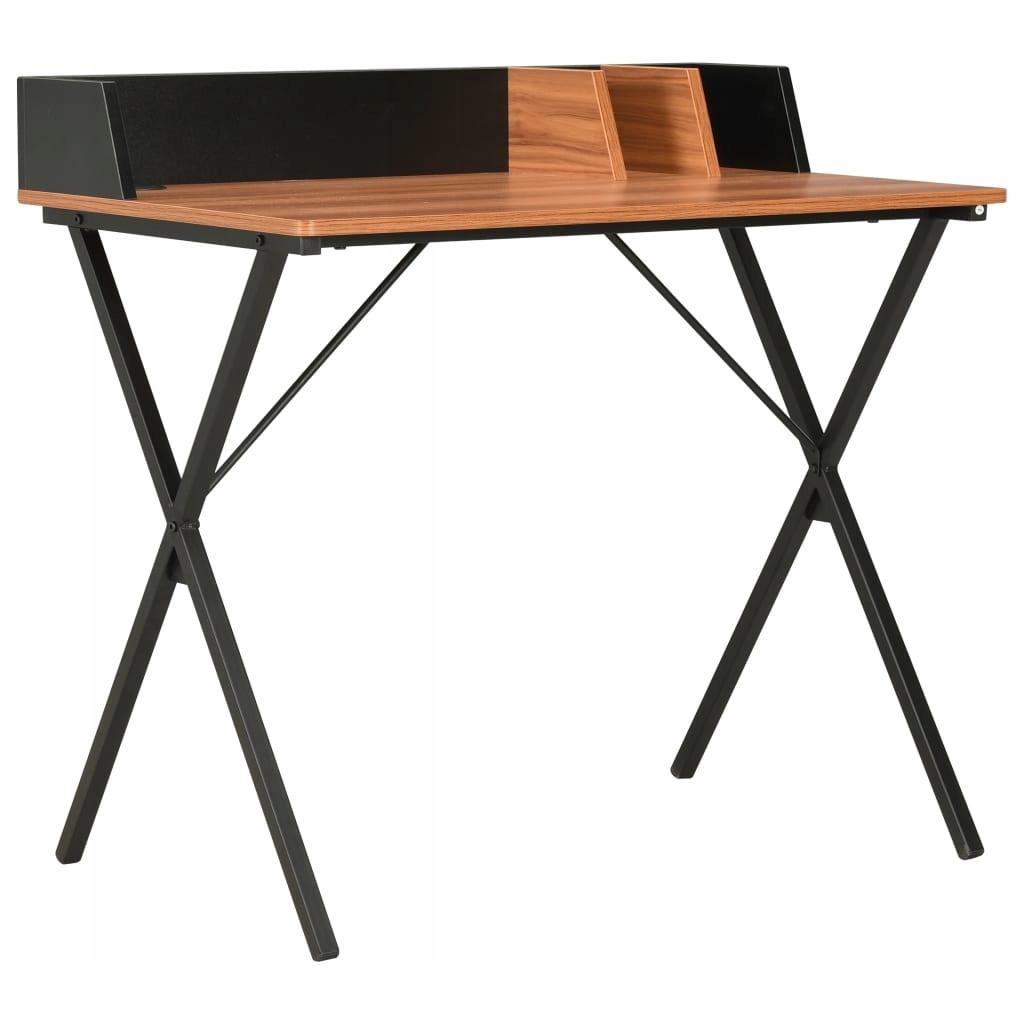 Stôl, čierno-hnedá, 80 x 50 x 84 cm