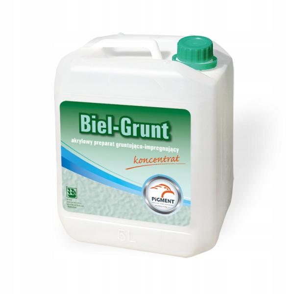 Grunt PIGMENT BIEL-GRUNT 5L akrylowy, 240 m2/op