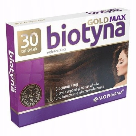 BIOTYNA GOLD 5 mg 30 tabl. BIOTEBAL CYNK SELEN B12