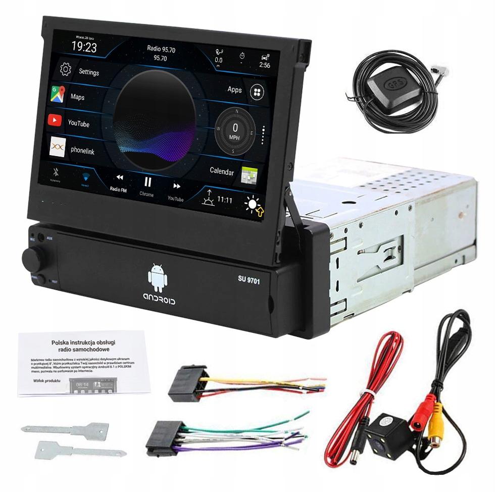 RADIO EKRAN 7' 1 DIN ANDROID 8.1 KAMERA GPS USB