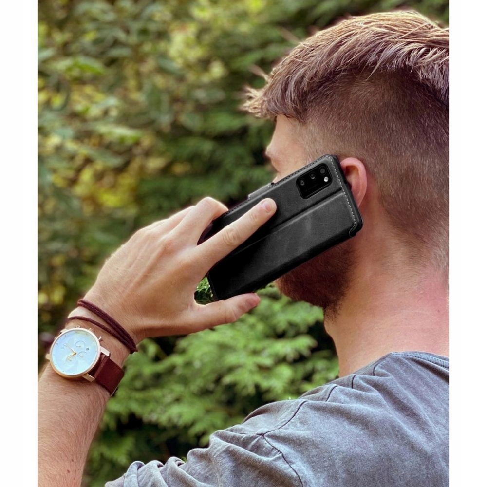 Etui Portfel+ szkło 9H do Samsung Galaxy S20 FE Kolor czarny