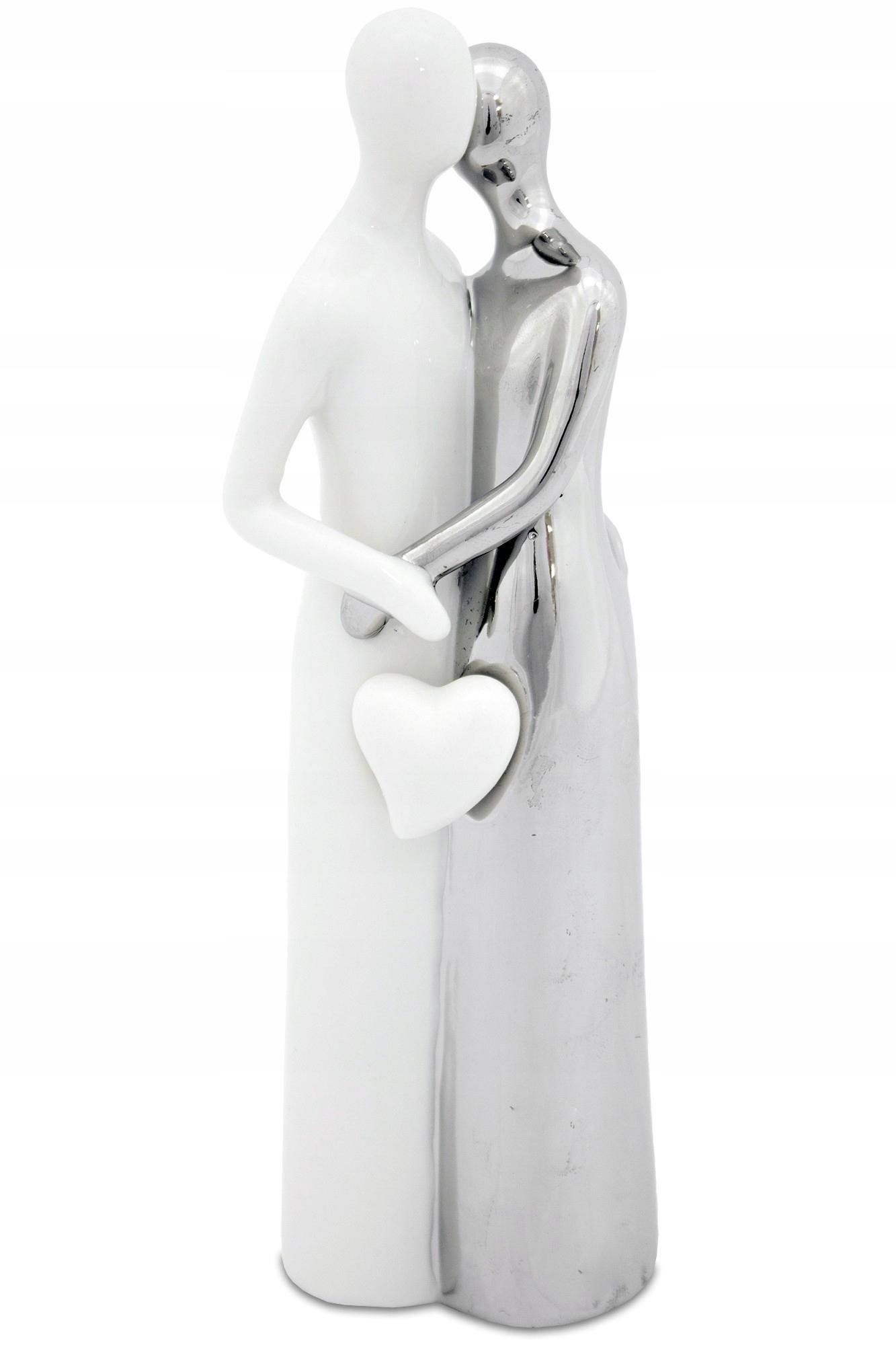 Figurka porcelanowa miłość, para 17x5x4 cm
