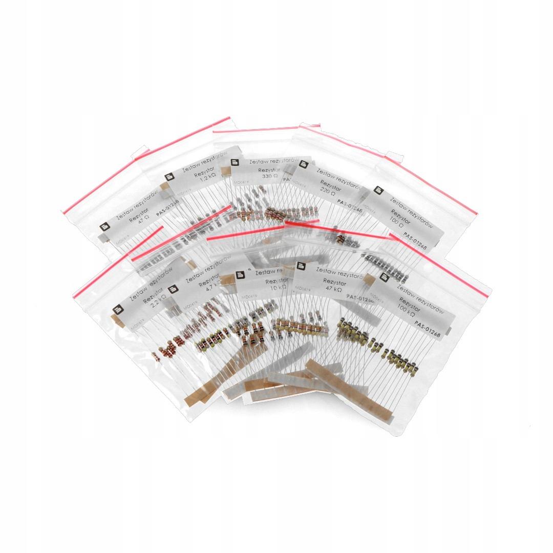 Набор резисторов CF THT 1/4ВТ описывается - 200шт.