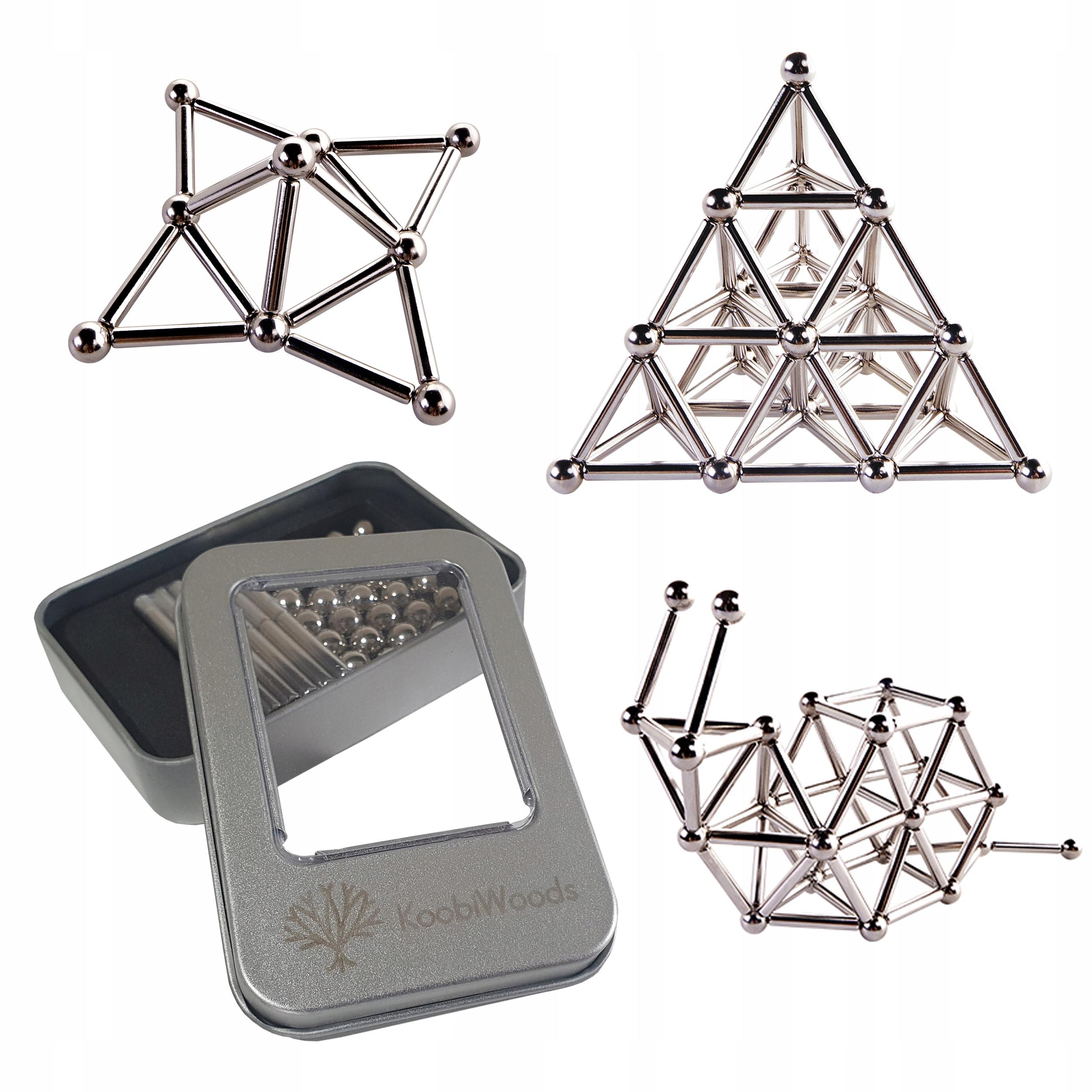 LOPTY Magnetické bloky + konektory NeoCube + BOX