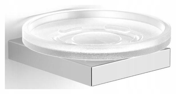Sklenená mydlová miska, matné chrómové sklo