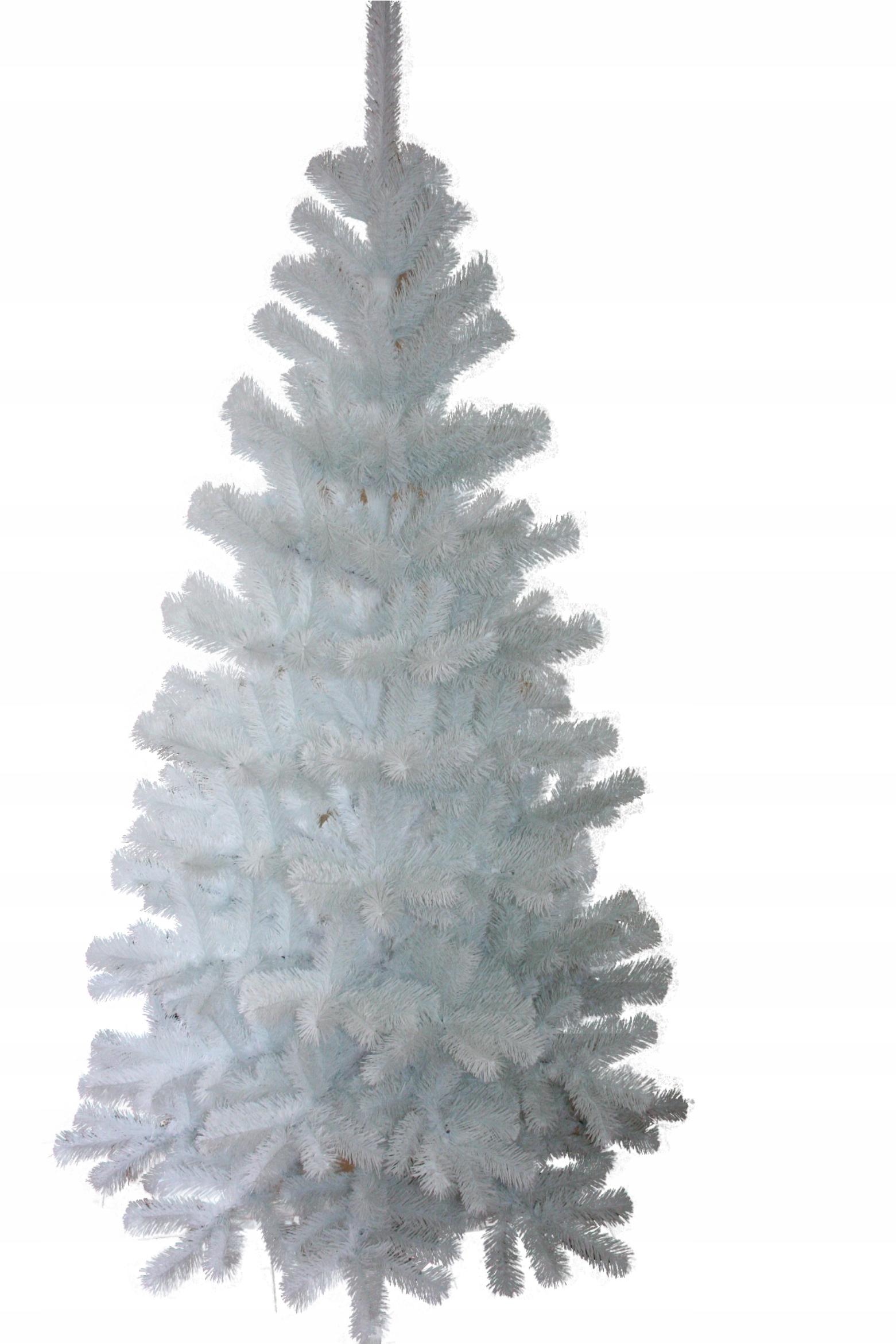 Jedľa umelá 220cm, 2,2m biela
