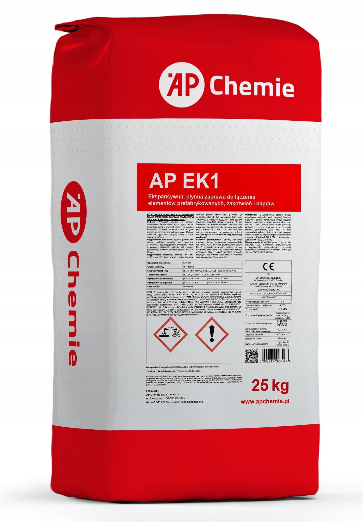 AP EK1 zaprawa do podlewek i zakotwień 25 kg