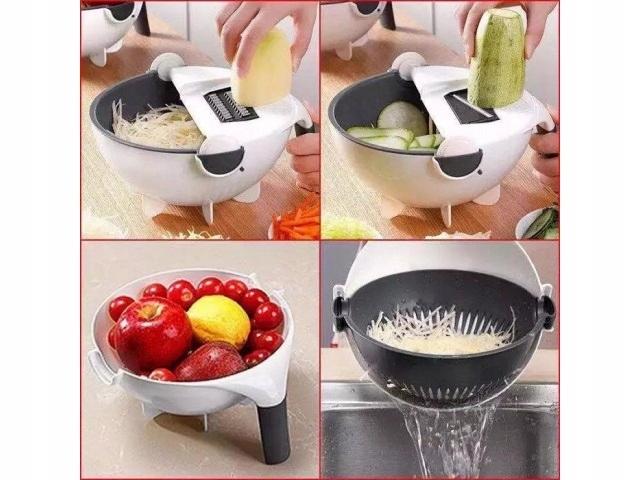 Krajalnica do warzyw z durszlakiem miska obierak Kod produktu szatkownica