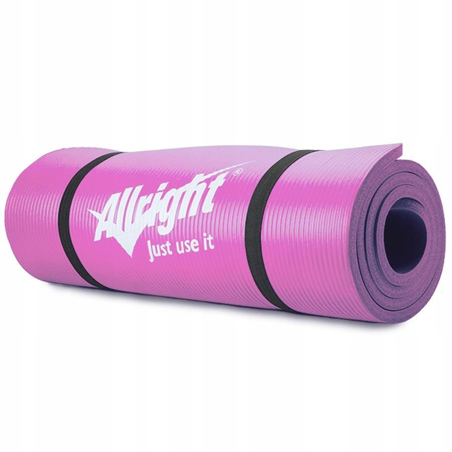 Fitness podložka NBR 180x60x1,5 ružová ružová 180x60