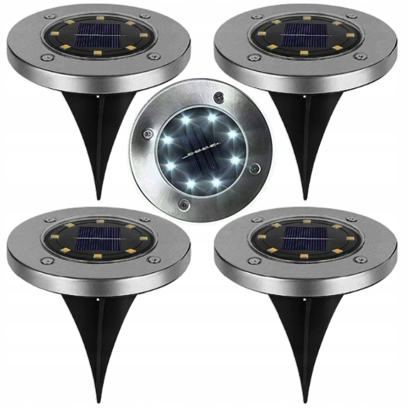 Светильники SOLAR GROUND Disk Light 4 PCS Set